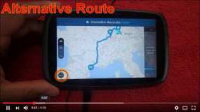 TomTom Go Alternative Route wählen