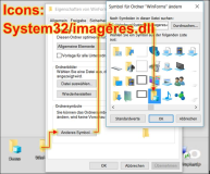 Windows 10: Desktop Icons anpassen in System32 ImageRes.dll