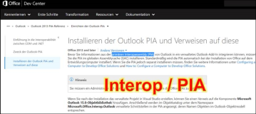 Notiz: Was ist Interop und PIA in Microsoft Office