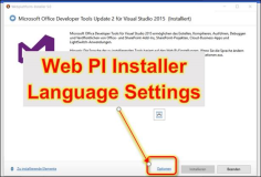 MS Web PI Installer: Sprache der Installation ändern