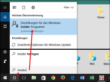 Windows 10: Insider Update , neues Update oder Preview installieren