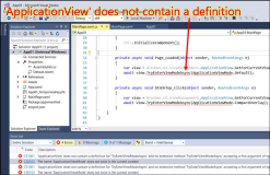 UWP Fehler: ApplicationView does not contain a definition for TryEnterViewModeAsync