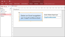 Access: Export Access Tabelle direkt in Excel