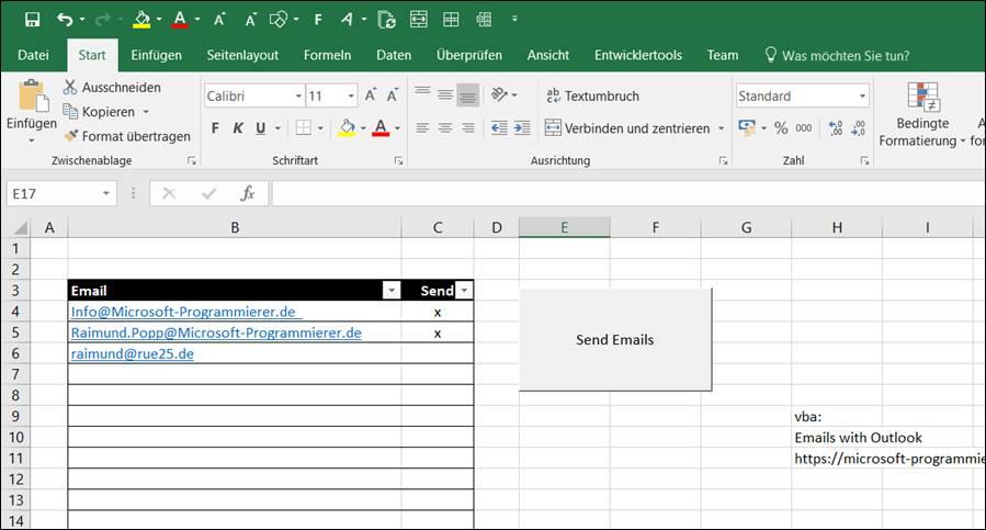 Emails Versenden Aus Excel