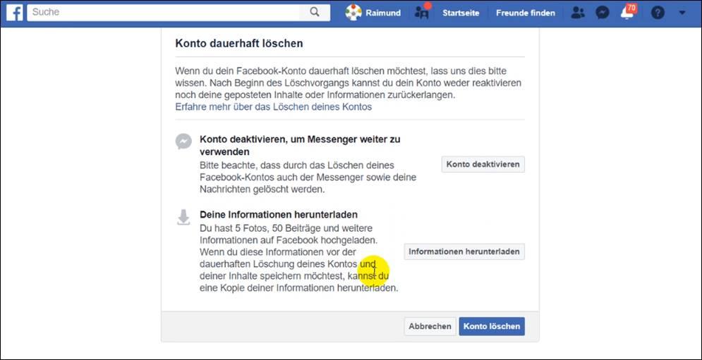 Facebook Konto Bestätigen