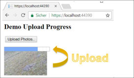 Upload mit Progress Bar