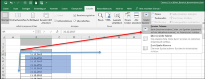 Excel Scroll-Bereich feinstellen