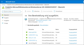 In Azure ein Windows DataCenter Servers öffnen