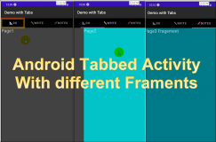 Android Example Code : Tabbed Activity with Different Fragments